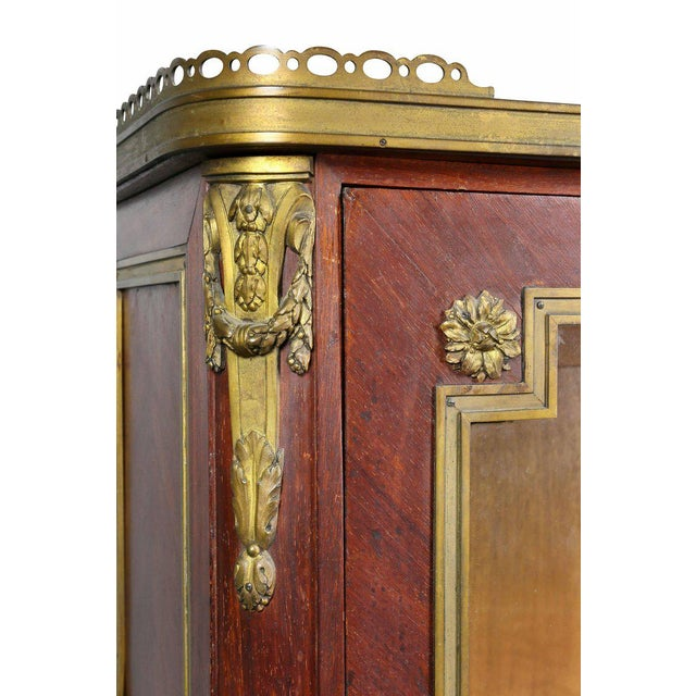 Louis XVI Style Tulipwood and Ormolu-Mounted Petit Cabinet For Sale - Image 4 of 10