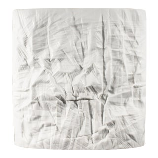 Martin Freyer for Rosenthal Studio Linie Structura Paper Porcelain Vase For Sale