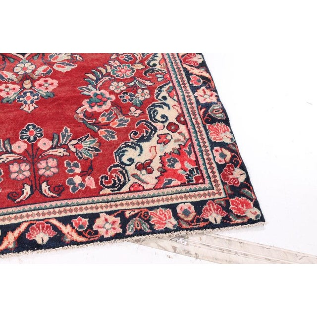 Asian Vintage Floral Bessarabian Turkish Kilim Rose Rug - 3′11″ × 6′6″ For Sale - Image 3 of 7