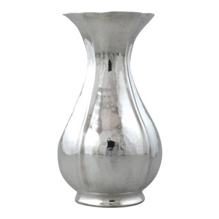 Continental Sterling Baluster Handwrought Vase