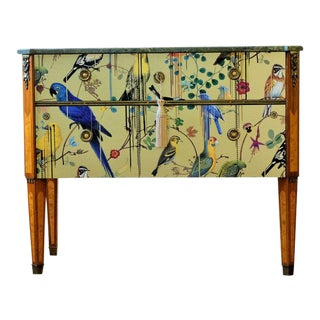 1940s Gustavian Bird Motif Commode For Sale