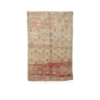 "Boujad Vintage Moroccan Wool Rug - 6'6"" X 9'1"" For Sale"