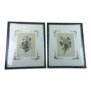19th Century Paris Botanical Lithograph Prints by Chirat - a Pair For Sale