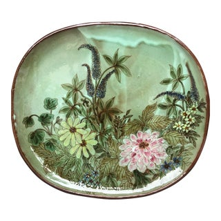Mid-Century Chelsea Pottery Signed Centerpiece Bowl / Tray For Sale