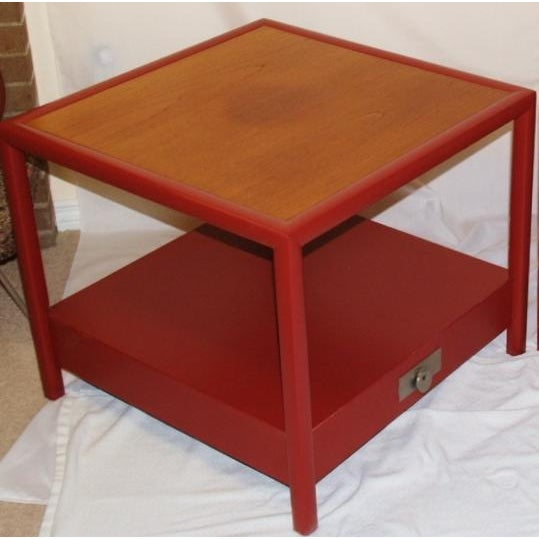 Baker Furniture Company Michael Taylor for Baker Side Tables - a Pair For Sale - Image 4 of 8