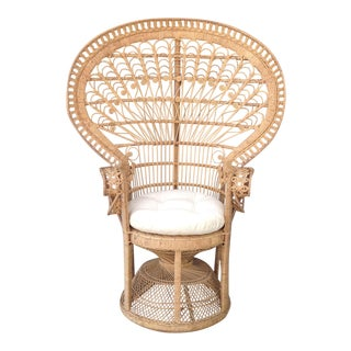 """Emmanuelle"" Style ""Peacock"" Chair For Sale"