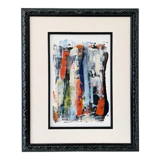 "Contemporary Abstract ""Delightful"" Acrylic Framed Painting For Sale"
