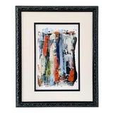 """Image of Contemporary Abstract """"Delightful"""" Acrylic Framed Painting by Gladys Tay For Sale"""