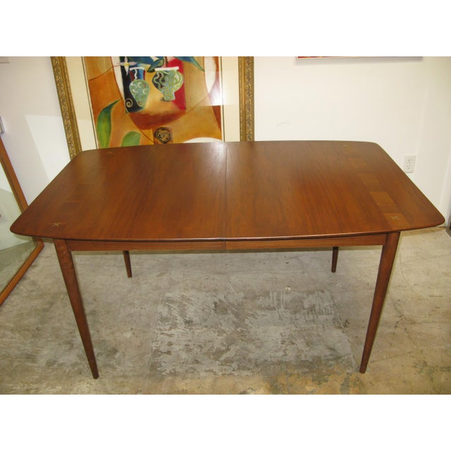 Mid Century American of Martinsville Walnut Dining Table For Sale - Image 10 of 10