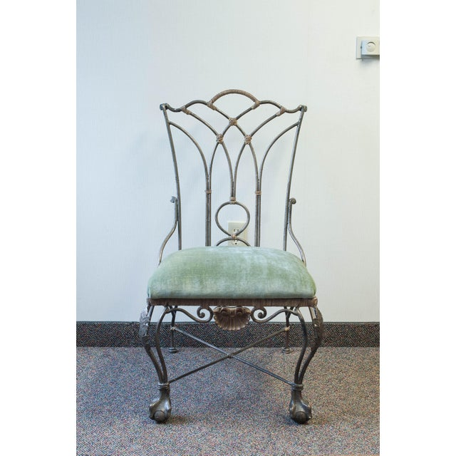 Wrought Iron Ball-and-Claw Chair - Image 3 of 11