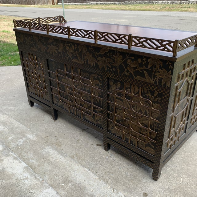 Drexel Heritage Drexel Heritage Mandalay Chinoiserie Desk For Sale - Image 4 of 13