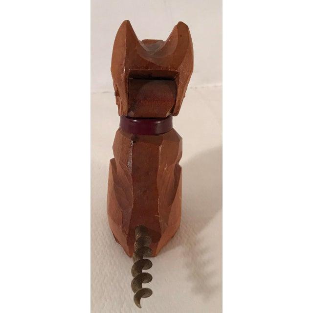 Vintage Carved Wooden Scottie Dog Figural Corkscrew For Sale - Image 4 of 8