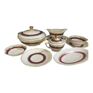 1910 RH Czechoslovakia Serving Set, 28 Pieces For Sale