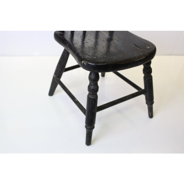 Children's Early 20th Century Vintage Miniature Children's Windsor Chair For Sale - Image 3 of 5