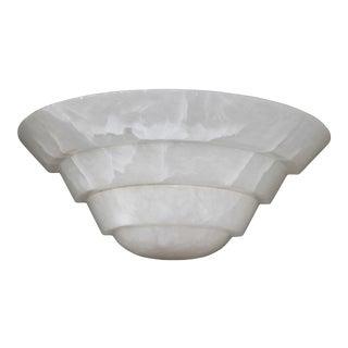 Art Deco Alabaster Onyx Skyscraper Sconce Lights Lamp For Sale
