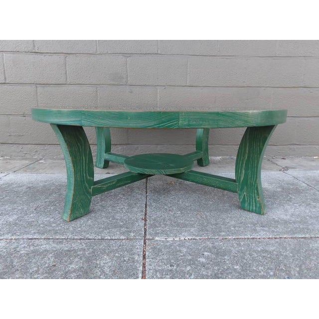 Paul Frankl Green Cerused Coffee Table - Image 2 of 6