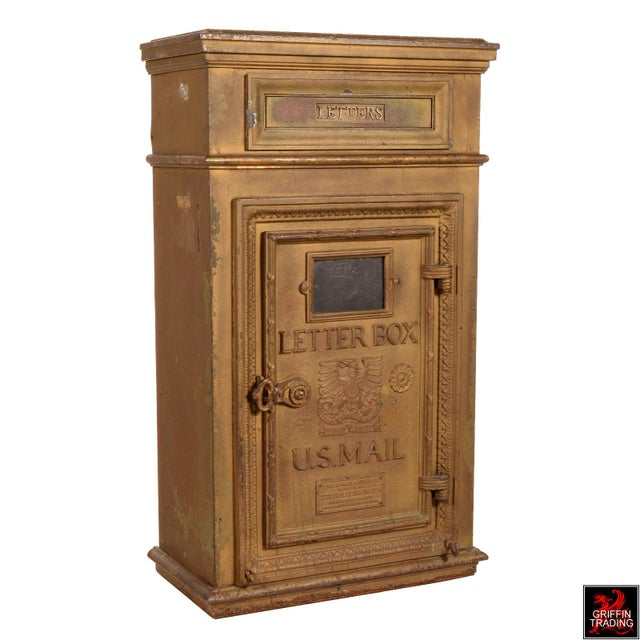 Art Deco Antique Cutler Mailbox and Mail Chute For Sale - Image 3 of 11