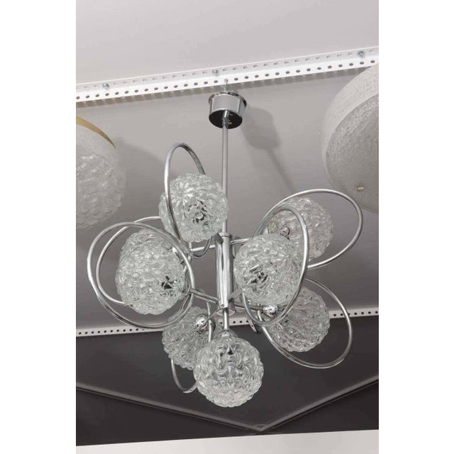 """""""Atomic-Orbital"""" Chandelier in Chrome and Glass For Sale - Image 9 of 11"""