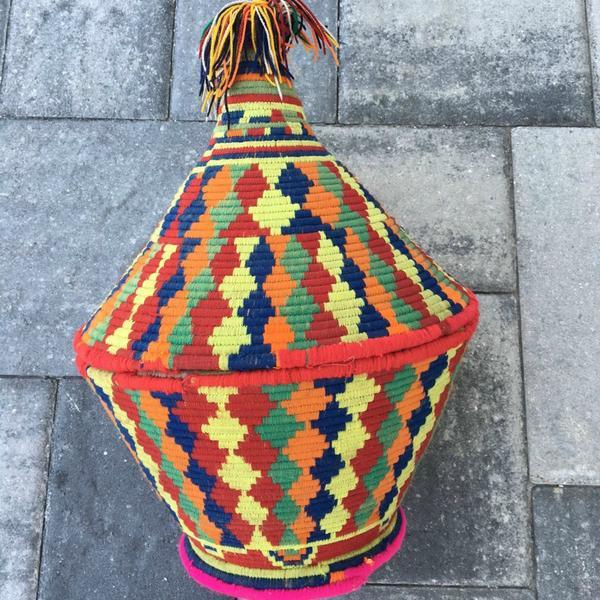 Large Moroccan Woven Basket - Image 2 of 3