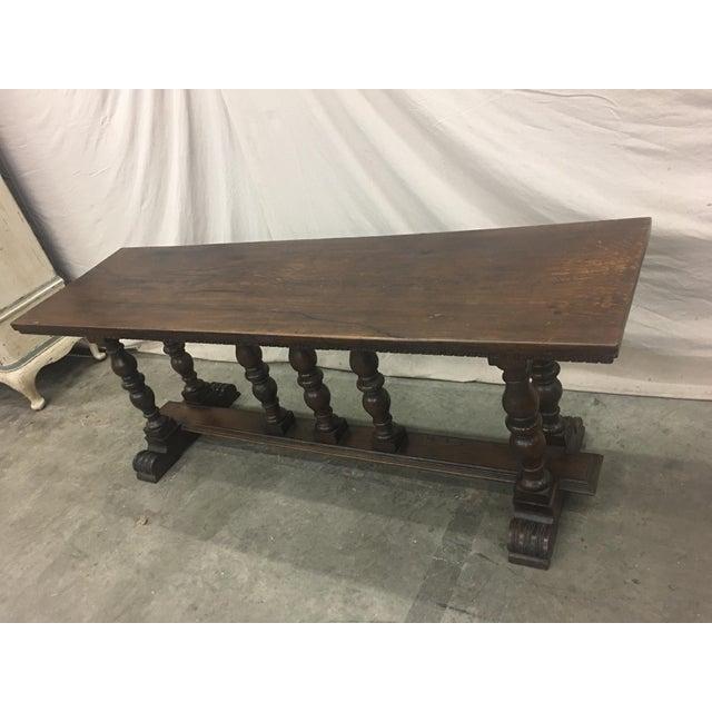 Walnut 18th C Italian Walnut Console Table Sofa Table For Sale - Image 7 of 11