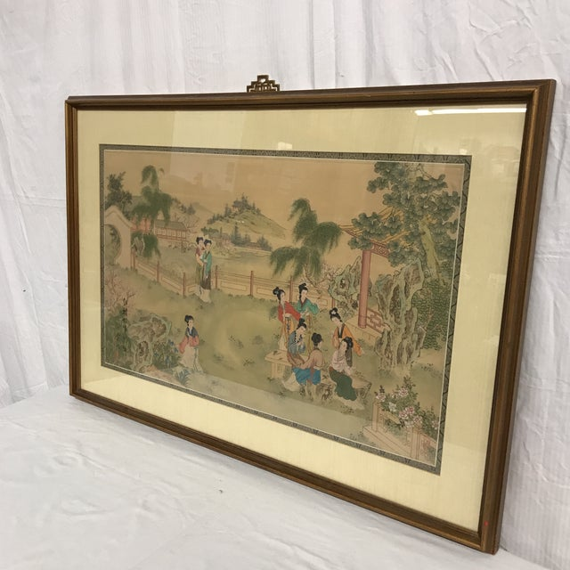 Chinese Pastoral Scene on Silk - Image 4 of 9