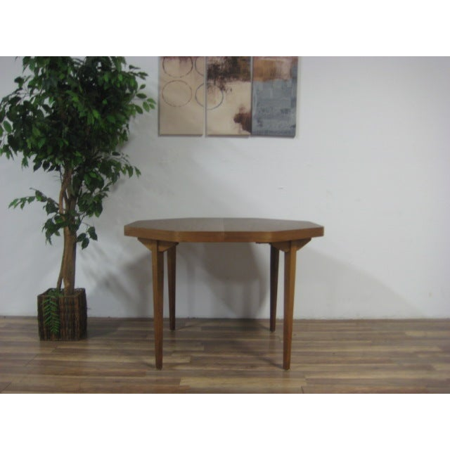 Vintage Dual Leaf Teak Dining Set - Image 9 of 11