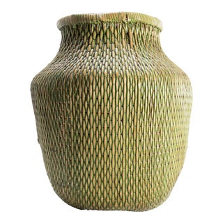 Chinese Green Fisherman's Basket For Sale