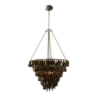Shell Chandelier by Quoizel For Sale