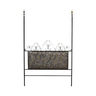 Hollywood Regency Mid Century Iron Full Size Poster Headboard For Sale