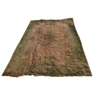 Antique Ca. 1900-1920 Turkish Oushak Rug - 11′5″ × 15′10″ For Sale