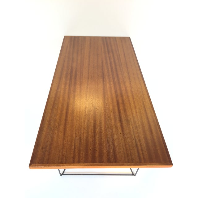Iron Luther Conover Mahogany and Iron Table, 1950 For Sale - Image 7 of 11