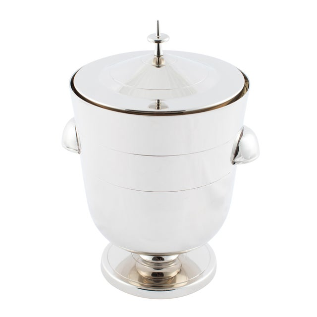 Tommi Parzinger Polished-Nickel Ice Bucket, Circa 1950s For Sale - Image 9 of 9