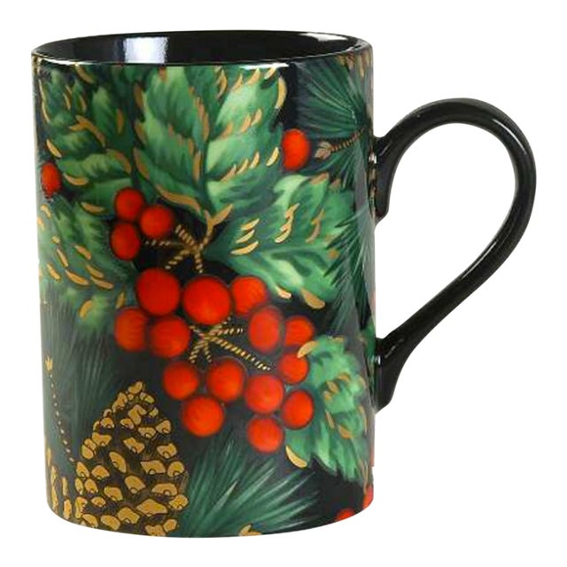 Fitz & Floyd Holiday Pine Coffee Mugs - Set of 8 For Sale