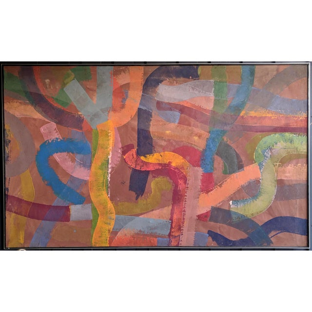 """81"""" Oversize Framed Oil on Canvas Abstract Painting For Sale - Image 13 of 13"""