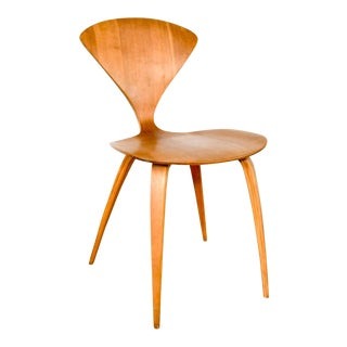 Mid Century Norman Cherner Molded Plywood Side Chair For Sale