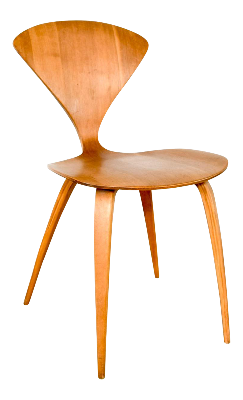 Mid Century Norman Cherner Molded Plywood Side Chair
