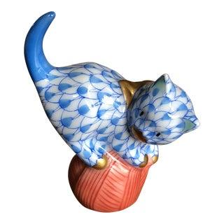 Herend Porcelain Mischievous Cat