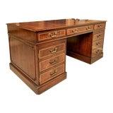 Image of Mid 19th Century English Georgian Mahogany Pedestal Desk For Sale