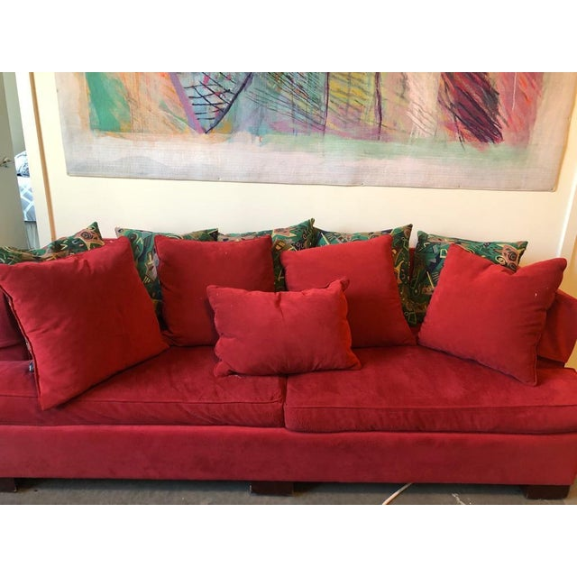 Hickory Chair Transitional Brick Red Sectional Couch
