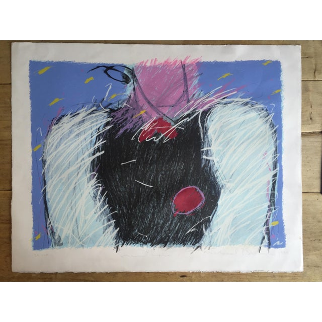 1984 Mixed Media Abstract Figure - Image 2 of 10