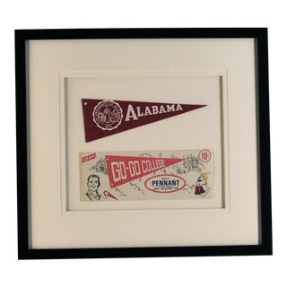1950s Americana Alabama University Pennant For Sale