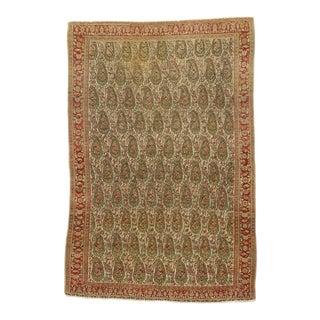 Vintage Persian Senneh Rug, 04'04 X 07'07 For Sale