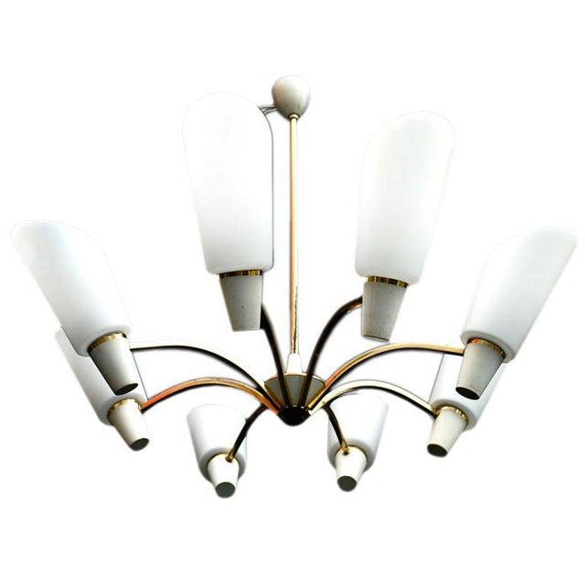Mid-Century Modern Danish Chandelier For Sale - Image 3 of 3