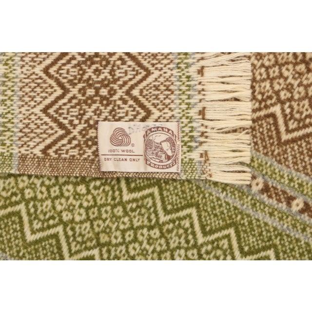 Mid 20th Century Amana Woolen Mills Fair Isle Wool Blanket For Sale - Image 5 of 6
