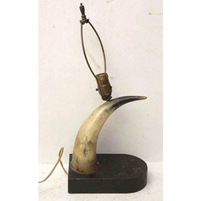 Vintage Horn Lamp For Sale - Image 5 of 7