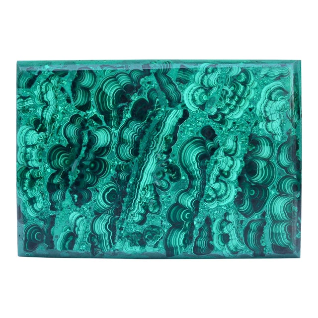 Natural Malachite box from the 1970's from Italy.