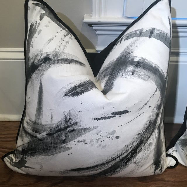 Hand-Painted custom one of a kind pillows by local artist Maggie Matthews. Commissioned by a local interior designer....