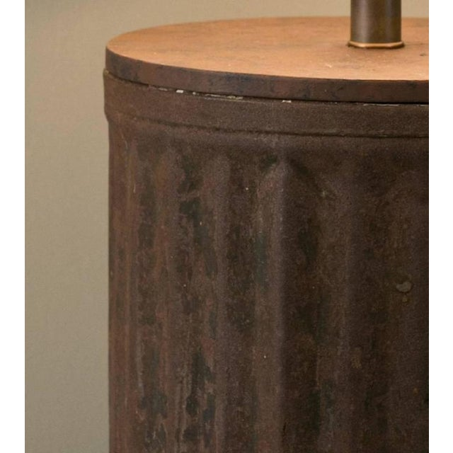 Rustic Industrial Brown Metal Table Lamp - Image 2 of 5