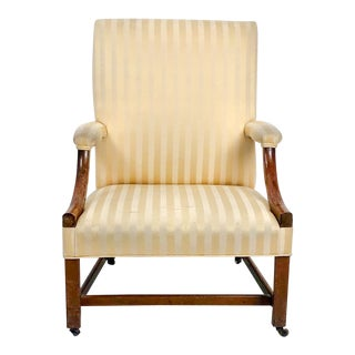 Chippendale Mahogany Library Chair, England Circa 1770 For Sale