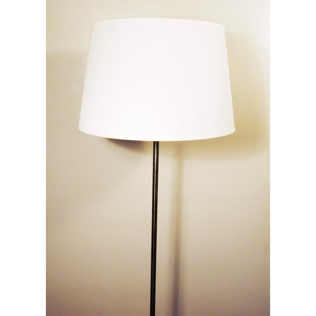 Mid-Century Chrome & Marble Pencil Floor Lamp - Image 5 of 8